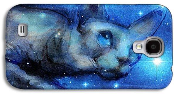 Galaxy S4 Case - Cosmic Sphynx Painting By Svetlana by Svetlana Novikova