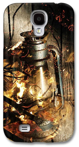 Cosy Open Fire. Cottage Artwork Galaxy S4 Case