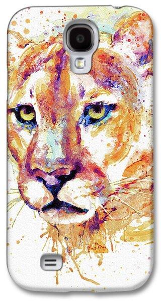 Cougar Head Galaxy S4 Case by Marian Voicu