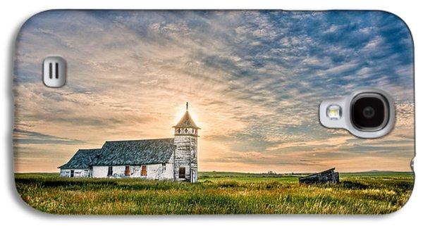 Country Church Sunrise Galaxy S4 Case
