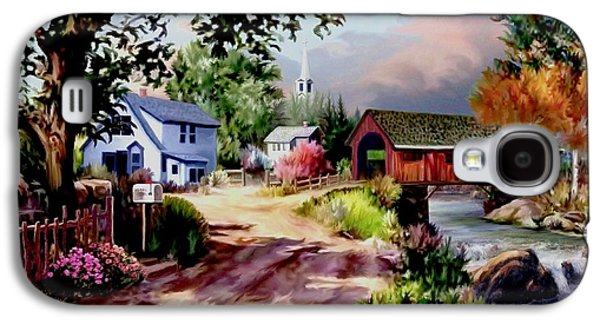 Country Covered Bridge Galaxy S4 Case