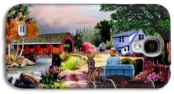 Country Covered Bridge V2 Galaxy S4 Case by Ron Chambers
