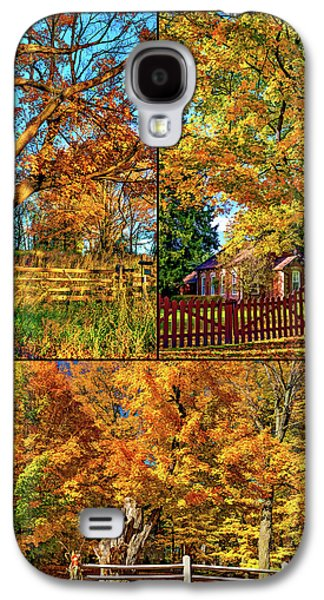 Country Fences Collage - Paint Galaxy S4 Case by Steve Harrington
