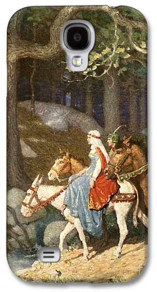 Country Folk Wending Their Way To The Tourney Galaxy S4 Case by Newell Convers Wyeth