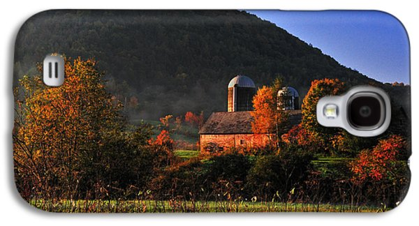 Farmscape Galaxy S4 Cases - Country Mornings - West Pawlet Vermont Galaxy S4 Case by Thomas Schoeller