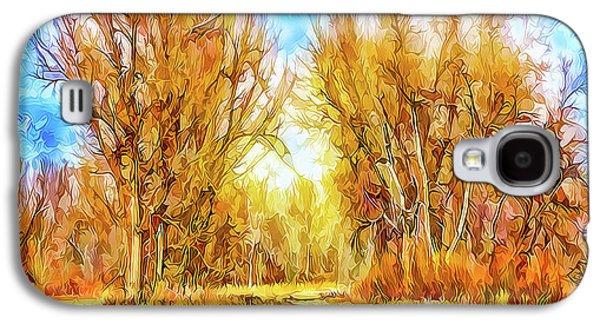 Country Road Wandering Galaxy S4 Case by Joel Bruce Wallach