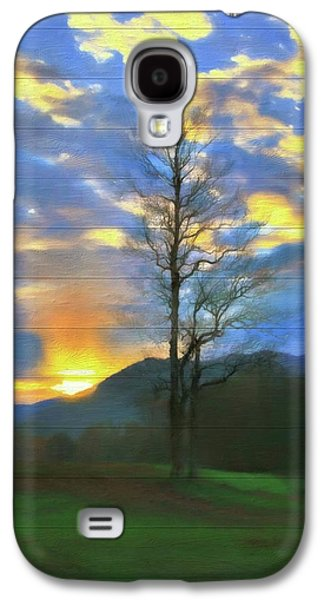 Country Sunset On Wood Galaxy S4 Case