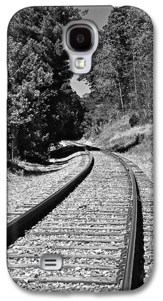 Country Tracks Black And White Galaxy S4 Case