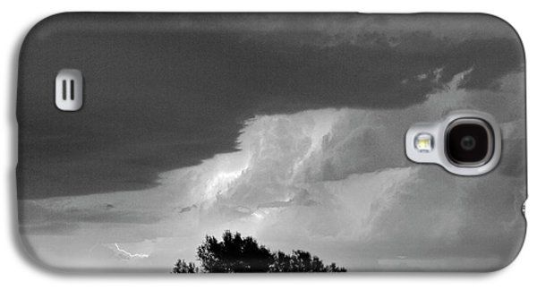 County Line Northern Colorado Lightning Storm Bw Galaxy S4 Case by James BO  Insogna