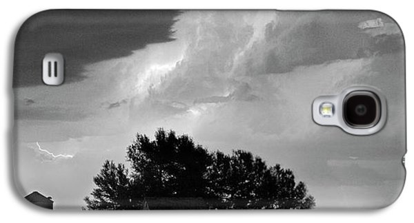 County Line Northern Colorado Lightning Storm Bw Pano Galaxy S4 Case by James BO  Insogna