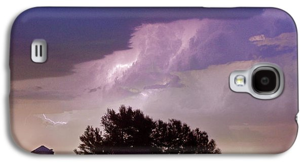 County Line Northern Colorado Lightning Storm Panorama Galaxy S4 Case by James BO  Insogna