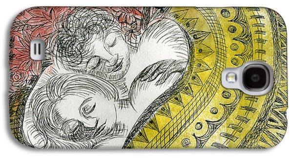 Couple Dreaming Galaxy S4 Case by Sheryl Karas
