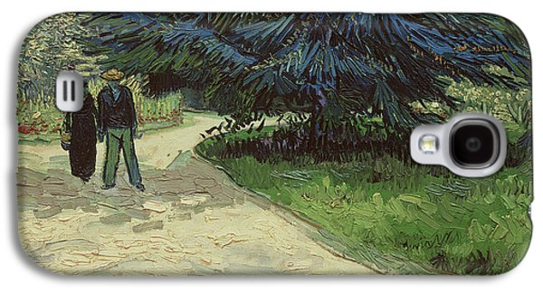 Couple In The Park Galaxy S4 Case by Vincent Van Gogh