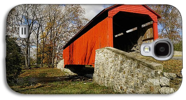Covered Bridge At Poole Forge Galaxy S4 Case