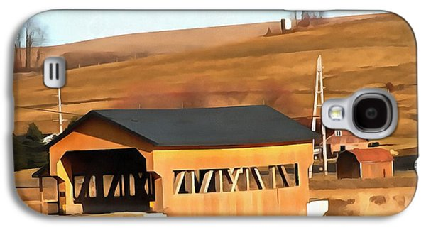 Covered Bridge In Amish Country Ohio Galaxy S4 Case by Dan Sproul