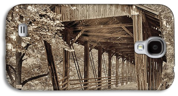 Covered Bridge  Sepia Tone Galaxy S4 Case