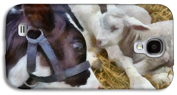 Cow And Lambs Galaxy S4 Case by Michelle Calkins
