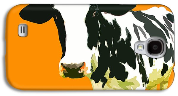 Cow Galaxy S4 Case - Cow In Orange World by Peter Oconor