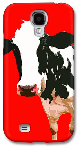 Cow Galaxy S4 Case - Cow In Red World by Peter Oconor