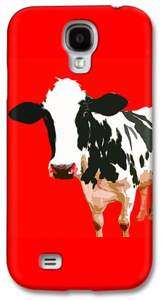 Cow In Red World Galaxy S4 Case by Peter Oconor