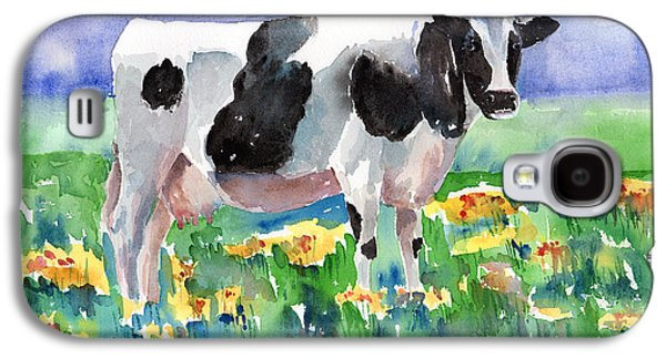 Cow Galaxy S4 Case - Cow In The Meadow by Arline Wagner