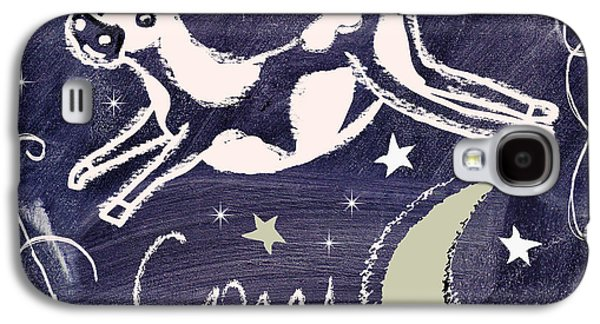 Cow Jumped Over The Moon Chalkboard Art Galaxy S4 Case by Mindy Sommers