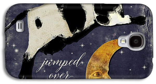 Cow Jumped Over The Moon Galaxy S4 Case by Mindy Sommers