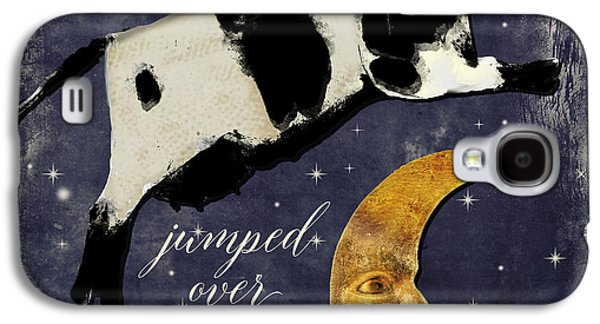 Cow Galaxy S4 Case - Cow Jumped Over The Moon by Mindy Sommers