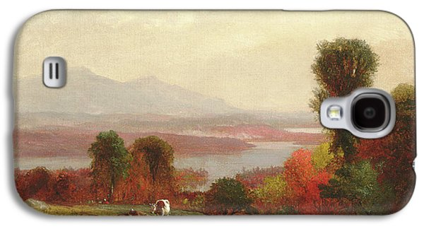 Cows And Sheep Grazing In An Autumn River Landscape Galaxy S4 Case by Homer Dodge Martin