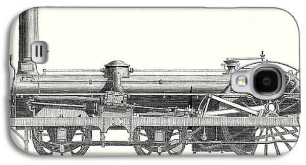 Crampton Locomotive Galaxy S4 Case by English School