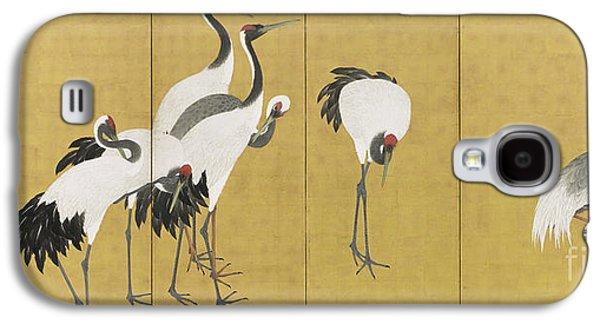 Cranes Galaxy S4 Case by Maruyama Okyo