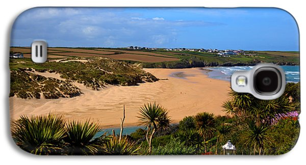 Crantock Beach North Cornwall England Uk Near Newquay With Palm Trees And Blue Sky Galaxy S4 Case