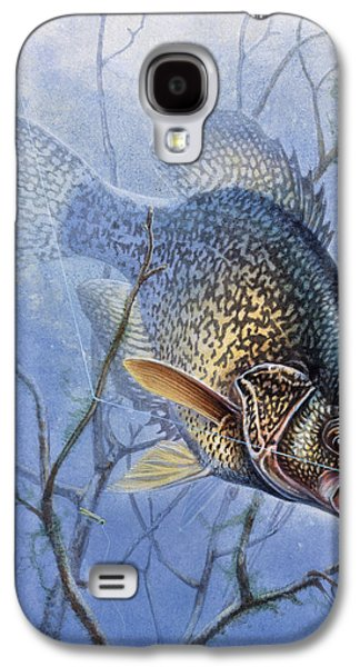 Crappie Cover Tangle Galaxy S4 Case by JQ Licensing