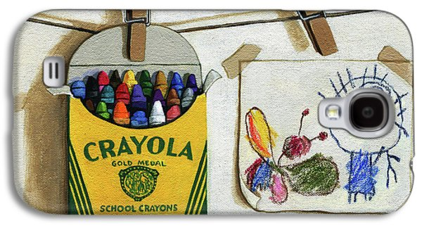 Crayola Crayons And Drawing Realistic Still Life Painting Galaxy S4 Case