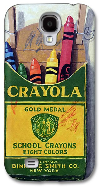 Crayola Crayons Painting Galaxy S4 Case by Linda Apple