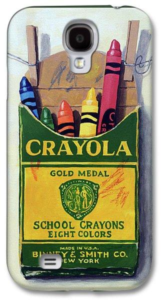 Crayola Crayons Painting Galaxy S4 Case by Linda Apple