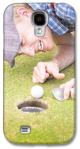 Crazy Golfer Galaxy S4 Case by Jorgo Photography - Wall Art Gallery