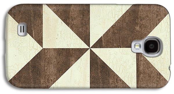 Cream And Brown Quilt Galaxy S4 Case by Debbie DeWitt