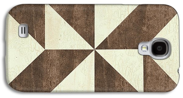Cream And Brown Quilt Galaxy S4 Case by Debbie DeWitt
