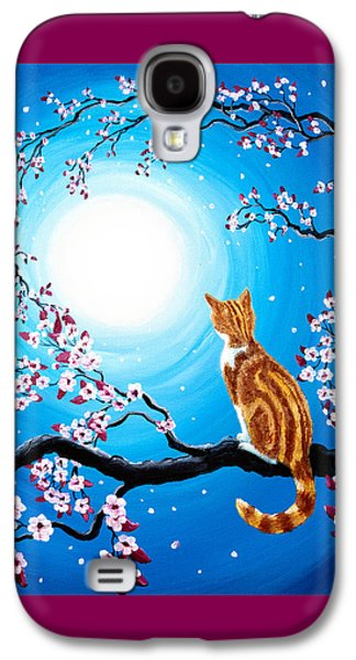 Creamsicle Kitten In Blue Moonlight Galaxy S4 Case by Laura Iverson