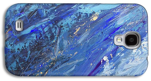 Silver Turquoise Galaxy S4 Case - Creation Of The Universe by Laurie Hein