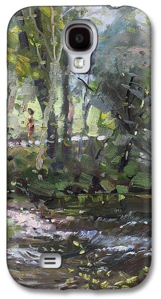 Creek At Three Sisters Islands Galaxy S4 Case by Ylli Haruni