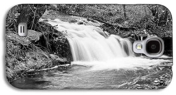Creek Merge Waterfall In Black And White Galaxy S4 Case by James BO  Insogna