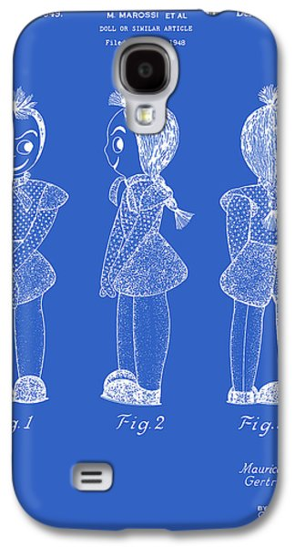 Creepy Doll Patent - Blueprint Galaxy S4 Case by Finlay McNevin