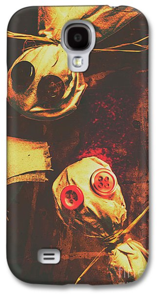 Creepy Halloween Scarecrow Dolls Galaxy S4 Case by Jorgo Photography - Wall Art Gallery
