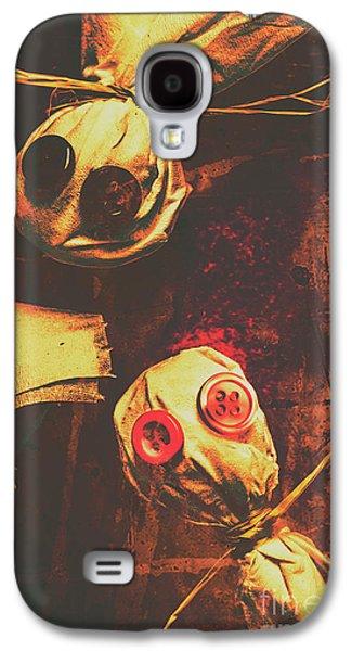 Creepy Halloween Scarecrow Dolls Galaxy S4 Case
