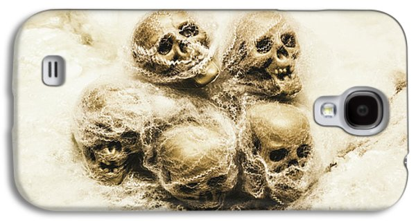 Creepy Skulls Covered In Spiderwebs Galaxy S4 Case by Jorgo Photography - Wall Art Gallery