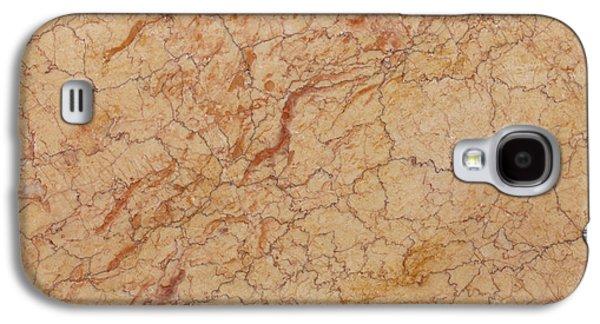 Crema Valencia Granite Galaxy S4 Case by Anthony Totah