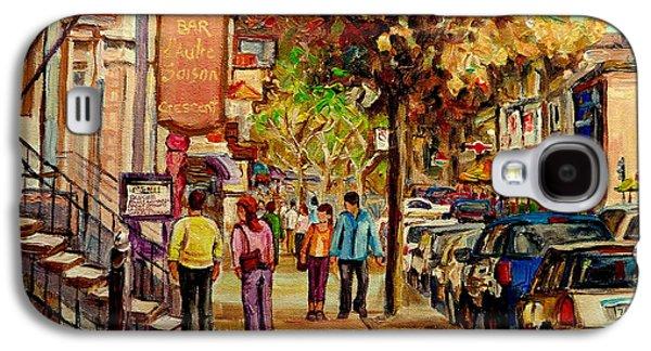 Crescent Street Montreal Galaxy S4 Case by Carole Spandau