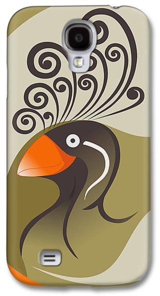 crestedAUKLET Galaxy S4 Case by Mariabelones ART